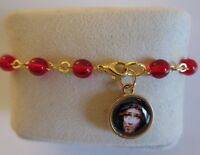 Precious Blood Of Christ Rosary Bracelet Auto Car Rearview Red Glass beads