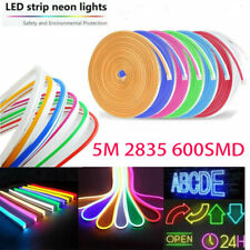 5M Waterproof LED Strip Neon Lights 2835 600SMD Flexible 12V Silicone Tube IP65
