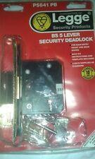 Legge P5641 PB BS 5 Lever Security Deadlock New.