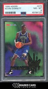 1995 Hoops Kevin Garnett Rookie RC #272 PSA 8 🏆 HOF