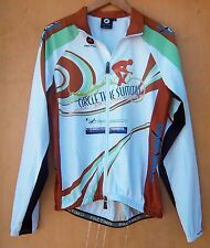 Pactimo - Adult White/Multicolored L/S Zip Up Cycling Jacket - Size M