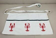 Lobster Apron Unisex Waist Pockets Hand Painted Foreside Gardens Maine Echo