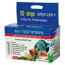 Easy Life Freshwater Test Kit 6 in 1 Aquarium Fish Tank Test Strips - 50 Tests