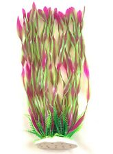 "14"" Aquarium Artificial Tall Grass Plant - Pink"