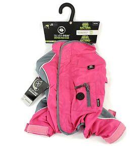 Silver Paw Fushia Pink  Full Body Pet Dog Rain Suit Coat Anti-Odor Pet Shield M