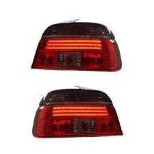 2 FEUX ARRIERE LED ROUGE NOIR BMW SERIE 5 E39 BERLINE PHASE 1 DE 11/95 A 08/2000