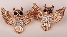 Bat Batman Stud Earrings Crystal Fashion Animal Jewelry Rose-Gold Halloween EA09