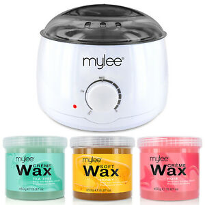 Mylee Depilatory Waxing Kit Wax Heater Warmer Pot Hair Removal Honey Tea Tree