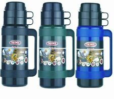 Thermos Mondial Glass Lined Vacuum Flask Black/Green/Blue 500ml 1L 1.8 Litre