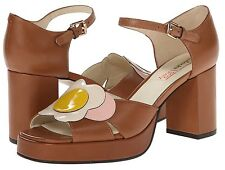 Orla Kiely Clarks, Betty Tan Shoes In Size 7D, EUR 41, Vintage Style