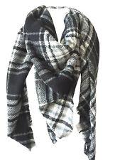 US SELL Women Blanket Oversized Tartan Big Long Scarf Wrap Shawl Pashmina Stole