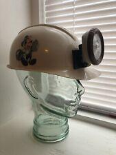 Disney's Animal Kingdom Dinoland Hard Hat W/ Light Lamp *Used*