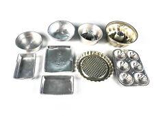 New listing Vintage Aluminum Pans Trays Bowls Kids Kitchen Toys 9 Piece Set