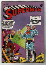 Australian SUPERMAN 112 DC Comics 1950's UK