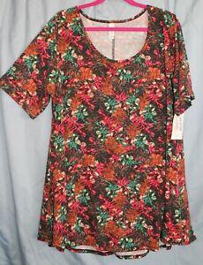 Lularoe Perfect T Shirt Swing Silky Top Blouse Print Pattern New 2XL USA XXL