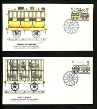Postal History Great Britain FDC #904-908 SET OF 5 Railroad train Liverpool 1980