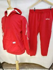 RAISED Activewear Pullover Size L and Matching Pants Size M Red.