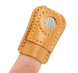 Leather Thimble Easy Grip Needle craft finger glove Sewing Kit
