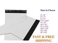 5-10,000 Poly Mailers Shipping Envelopes Self Sealing White Plastic Mailing Bags