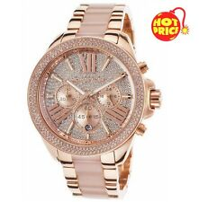 BRAND NEW GENUINE MICHAEL MK6096 KORS ROSE GOLD PAVE CRYSTALS WREN LADIES WATCH