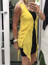 Sass And Bide Tails Top Long Vest Layering Yellow Silk