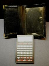 Seiko Instruments Electronic Phone Card / Calculator, Model Df-210, Boeing Case