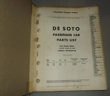 1939 DE SOTO PARTS LIST ORIGINAL MANUAL S6