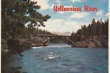 "*Yellowstone Nat'l Park Postcard-""The Yellowstone River"""