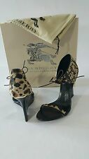 NIB Authentic BURBERRY   Norwood Wedge Sandals size 39,5/ 9-9,5