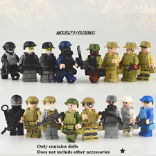 12pcs Soldiers Building Blocks Figures Occupational Toy For Lego Minifigure Gift
