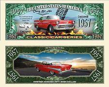 CHEVROLET BEL AIR 1957 -  BILLET MILLION 1 DOLLARS US! Collection Voiture Car 57