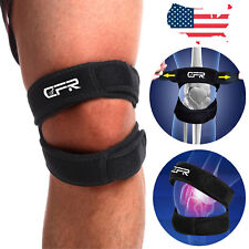 US Knee Support Patella Stabilizer Strap Band Tendon Brace Pain Sports Gym Joint