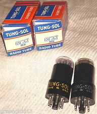 2 Vintage Tung Sol 6SC7GT Vacuum Tubes Very Strong & Balanced