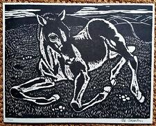 JO STRAHN, Düren 1904-1997 Düsseldorf, signiert, Liegendes Fohlen