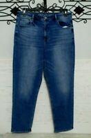 Women's American Eagle Jeans Size 12 Mom Jean Stretch Blue Denim