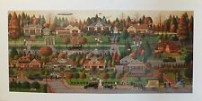 Charles Wysocki Labor Day in Bungalowville Ltd Edition Print Signed and Numbered