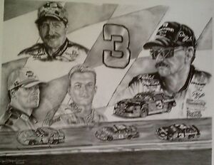 "EARNHARDT SR.  ""LAST LAP""  DAYTONA FEB. 18, 2001 BLACK AND WHITE"
