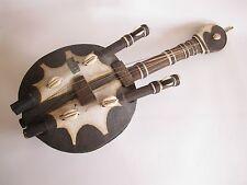 Ältere Kora Saiteninstrument aus Afrika Tropenholz Hand-gefertigt 45 cm lang