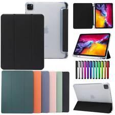 For iPad 5th 6th 7th 10.2 Mini Air Pro 9.7 10.5 11 Smart Case Cover w Pen Slot