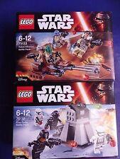 STAR WARS 75133 & 75132 2 BATTLE PACKS NEW SEALED BOXES