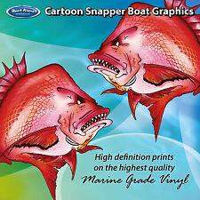 Cartoon Snapper Graphics - set of 250mm Boat Graphics