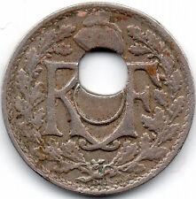 III° REPUBLIQUE 5 Centimes Lindauer 1926 fauté trou central décalé