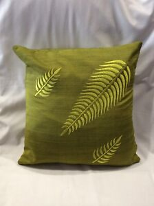 PACK OF 4 X GREEN CUSHION COVERS 40cm X 40cm