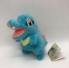 "Pokemon Totodile #158 Plush Soft Toy Stuffed Animal Doll 6.5"" NWT"