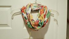 BEAUTIFUL WOMEN'S WRAP NECK SCARF VISCOSE FLORAL MULTI RAPTI ACCESSORIES