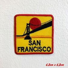 Famous San Francisco Bridge with Sunset Embroidered Iron Sew on Patch #1857