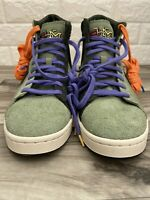 Converse Pro Leather Mid Men's Sz  9.5 Green Sequoia Black History Month BHM BLM
