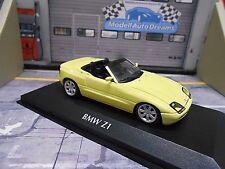 BMW Z1 Roadster E30 1991 gelb yellow Cabrio Minichamps 1:43
