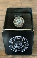 President Trump POTUS 45 Mens WRIST WATCH White House VIP Metal Box Gift Set