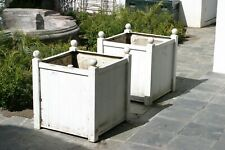 PAIR OF HUGE ANTIQUE CAST IRON PLANTERS, INCLUDING IRRIGATION PLUMBING